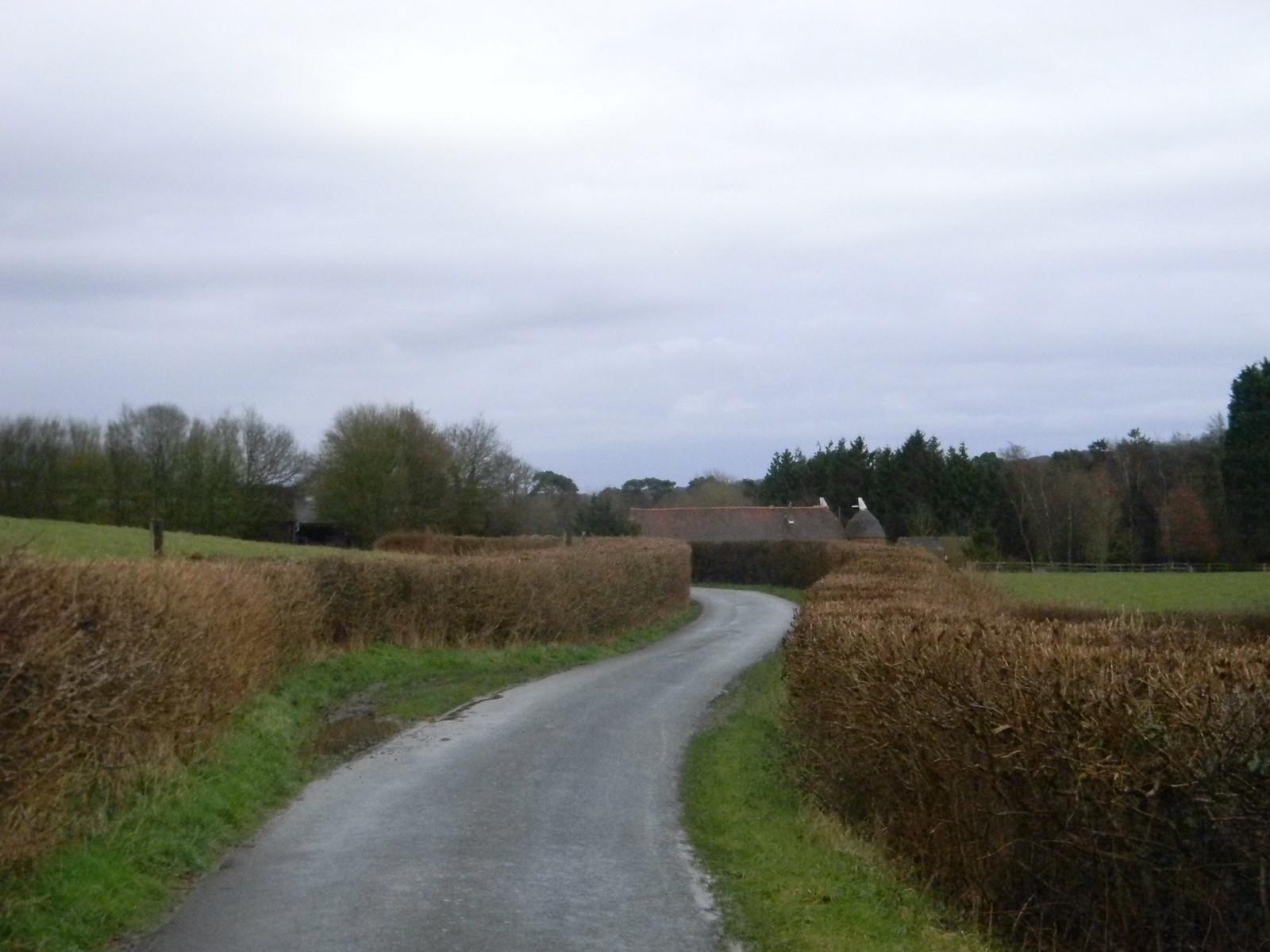 Winding road Stonegate to Robertsbridge