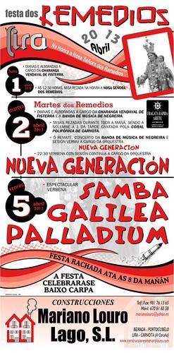 Carnota 2013 - Festa dos Remedios en Lira - cartel