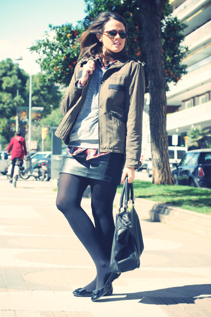 LOOK Green parka - monicositas