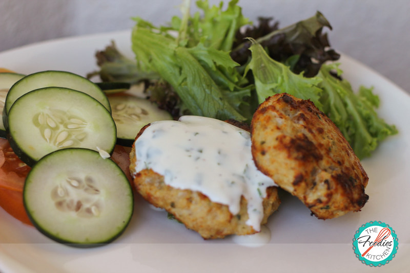 Chicken Patties with Yogurt Sauce