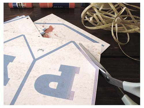 DIYHappyBirthdayBunting_Cutting