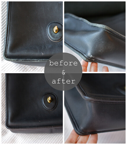 how to repair purse, fixing old leather, coach repair, leather fix up