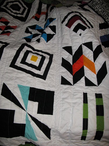 Black, White, and Color Quilt