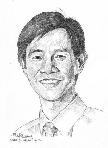 Pencil portrait for Chinese Swimming Club Phoon Siew Boon - 24