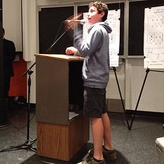 Andres, age 13, loves to bike and wants slower car speeds to help get to businesses.