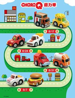 麥當勞 《快樂兒童餐》 八款「CHORO-Q迴力車」快來收集啊!!