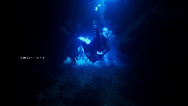 青い洞窟やね♪