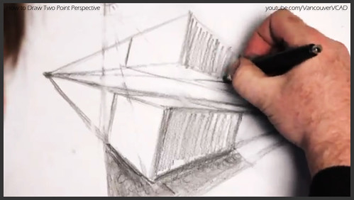 2D design how to draw in two point perspective 017