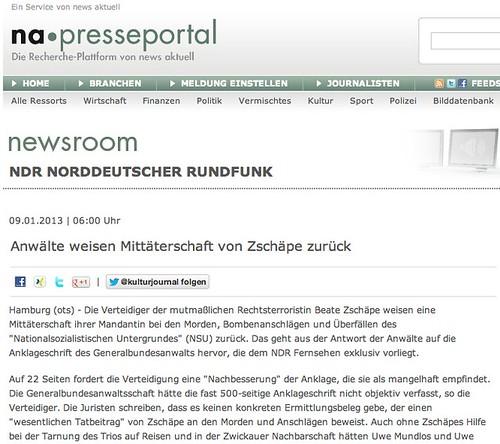 Presseportal: NDR-Pressemitteilung