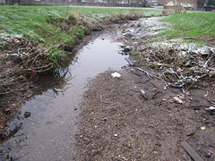 wetland, soil, pollution, stream bed, ditch,