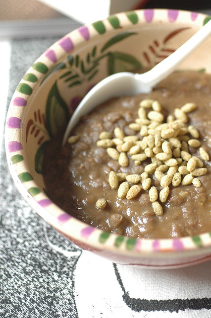 zuppa lenticchie e crunchy Rosmarino