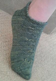 Lunar Moth Bed Socks