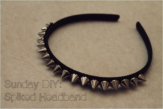 sunday diy spiked headband