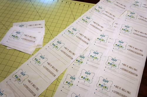 Quilt Labels made from Spoonflower