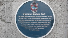 Photo of Ulverston Savings Bank and James Dixon blue plaque