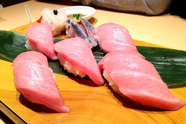 Ebi Sushi, Aji Sushi and Otoro Sushi