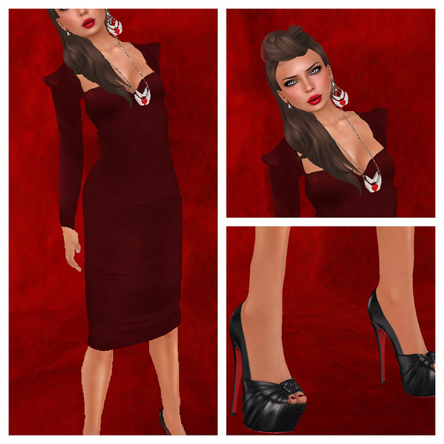 Lady in Red Collage