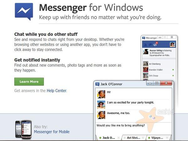 Facebook Messenger 2.1 โปรแกรมแชท Facebook บน Windows
