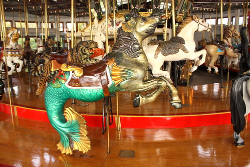 Coolidge Park Carousel: Mermaid Horse