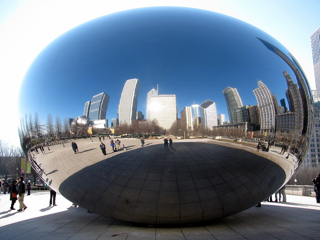 Cloud Gate, Millennium Park, Chicago.