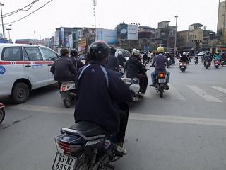 バイクが多い