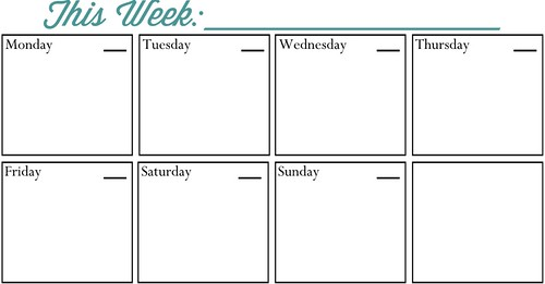 Weekly Planner Printable - All Those Detailsall Those Details