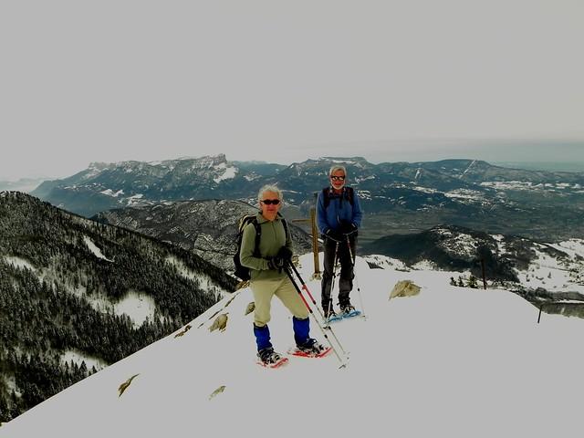 Roger et Jacky au sommet de la Galoppaz