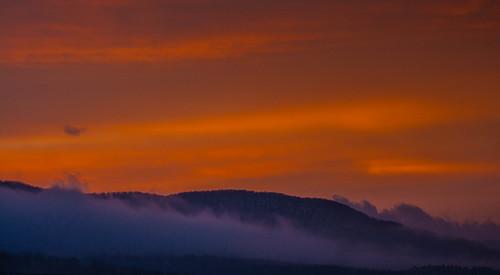 sky mist mountain nature clouds sunrise landscape vermont