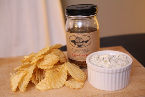 Dogfish Head Hop Pickle Dip with Chips