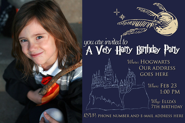 Eliza's Very Harry Birthday Party Invitation