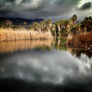 winter sky clearing over Agua Caliente