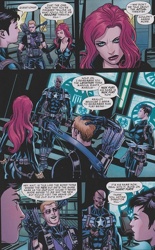 nick fury hawkeye black widow secret avengers #1