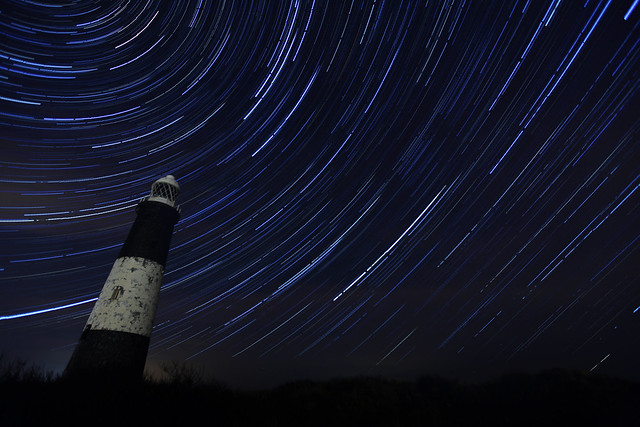 Spurn Point Light House Star Trail