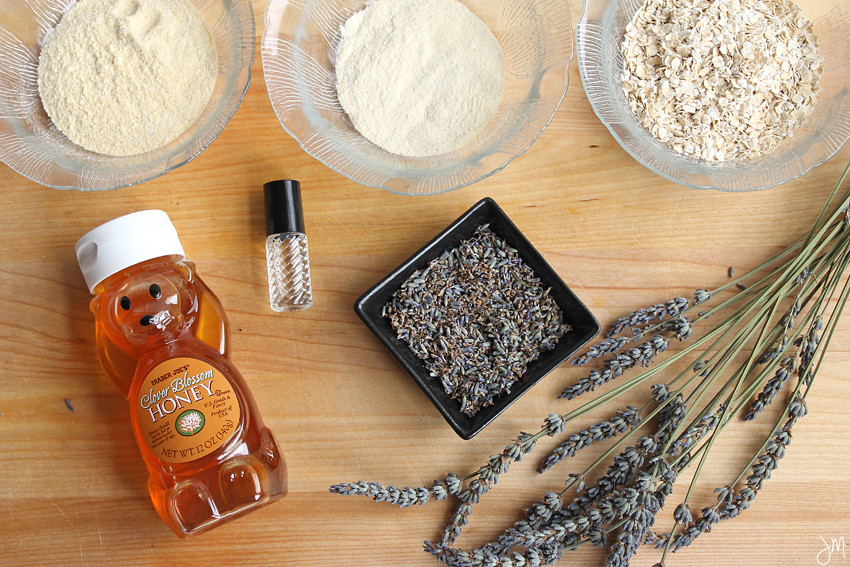 Julip Made DIY Winter Beauty lavender oatmeal face mask
