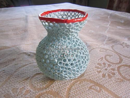 Paper Quilling 3D Vase (1) by fah2305