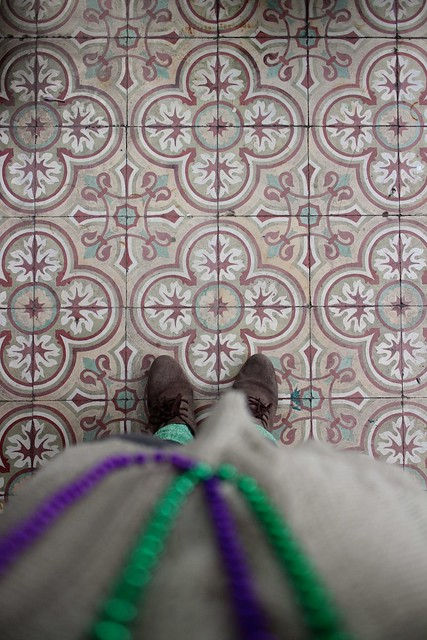 ornate floor, new orleans
