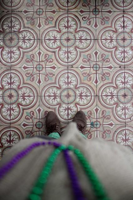 ornate floor, new orleans