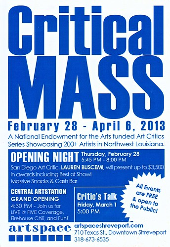 Critical Mass art exhibit, Feb 28, Shreveport by trudeau