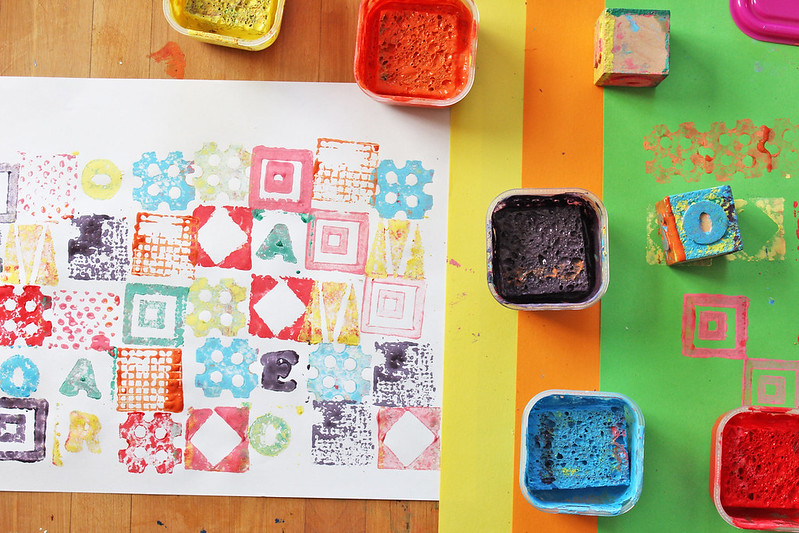 homemade stamp prints