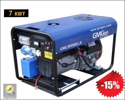 Портативный дизельный генератор 7 квт, GMGen GML9000ELX