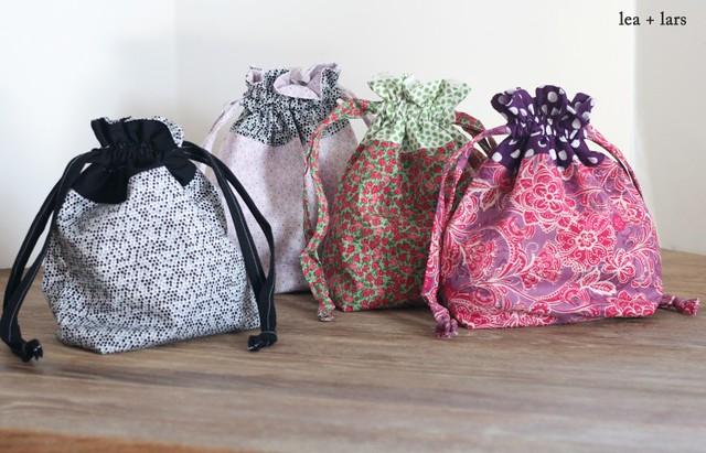 drawstring bags for knitting projects