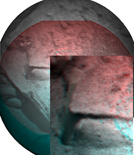 CURIOSITY ChemCam Sol 193 anaglyph detail