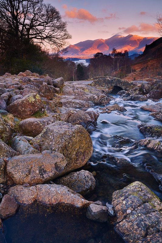 Sunrise Over Skiddaw, At Ashness Bridge