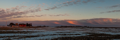 winter sunset snow clouds scenic ©jrj