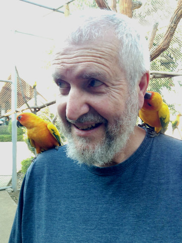 Dad with the birds