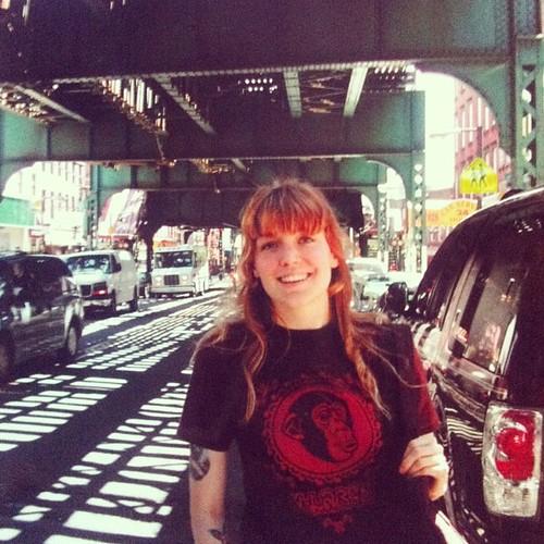 Brooklyn, älskad X-LARGE-tisha, märklig färg på håret, lycklig. 2004. #tillbakablickstorsdag