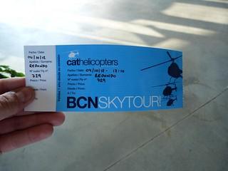 Pase BCN Skytour de CatHelicopters, la empresa con la que volamos en helicóptero por Barcelona