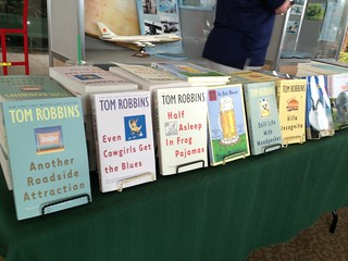 #TomRobbins: recognize any of his books @SPMOH today's @Wordsmitten Workshop FYI @TBOcom
