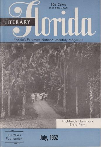 statepark magazine florida sightseeing tourist 1950s booklet 1952 highlandshammock literaryflorida