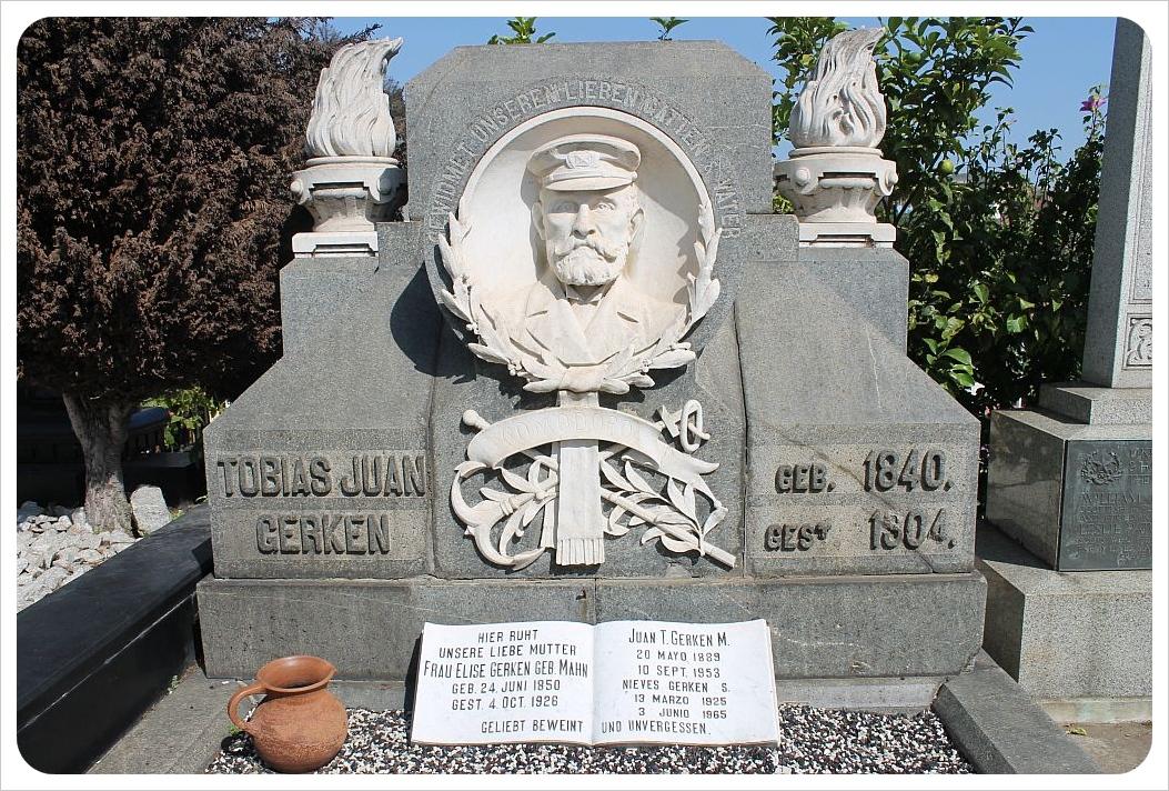 valparaiso cemetery german sailor